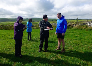 map reading course in the Derbyshire peak district